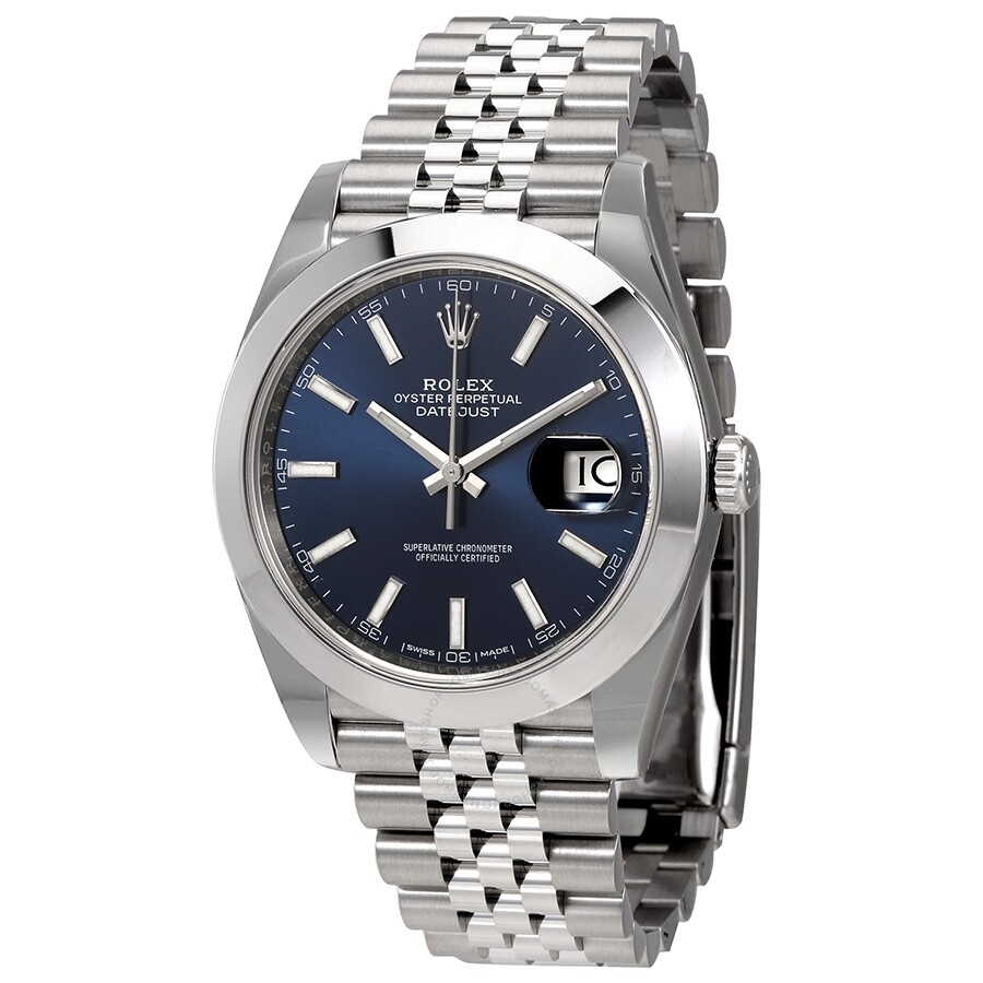 Pre,owned Rolex Datejust 41 Automatic Blue Dial Men\u0027s Watch 126300BLSJ