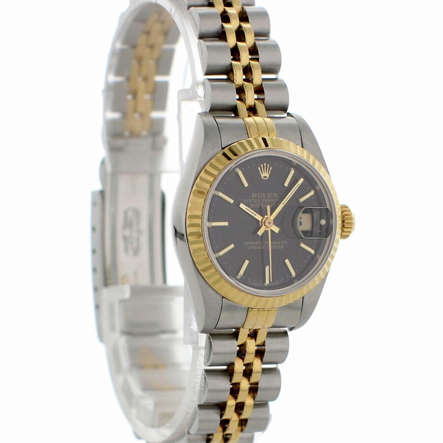 e4307c37e7552 Pre-owned Rolex Datejust Automatic Black Dial Ladies Watch 69173 ...