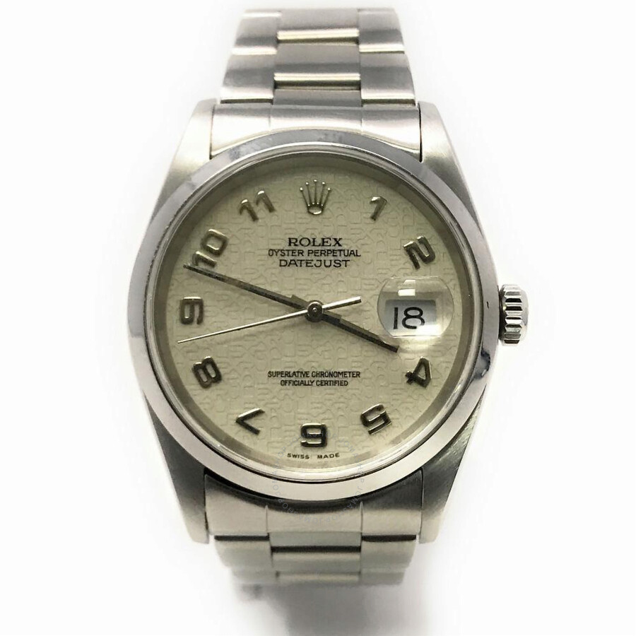 78171baa2fb Pre-owned Rolex Datejust Automatic Chronometer Men's Watch 16200 BAO ...