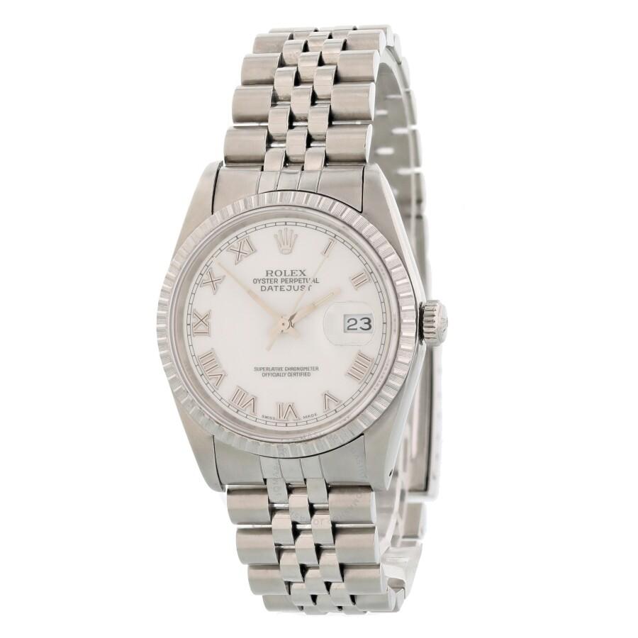 13330cf2e4298 Pre-owned Rolex Datejust Automatic Chronometer White Dial Men's Watch 16220  WRJ