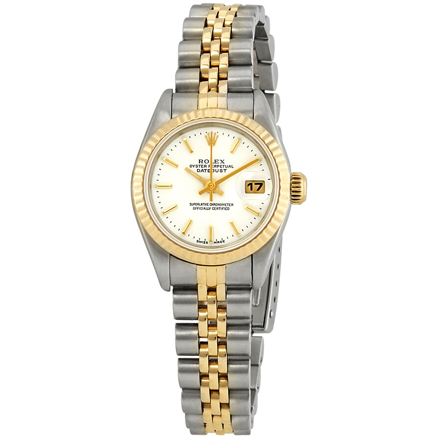 d05d2a5c29c35 Pre-owned Rolex Datejust Automatic White Dial Ladies Watch Pre owned 69173  ...