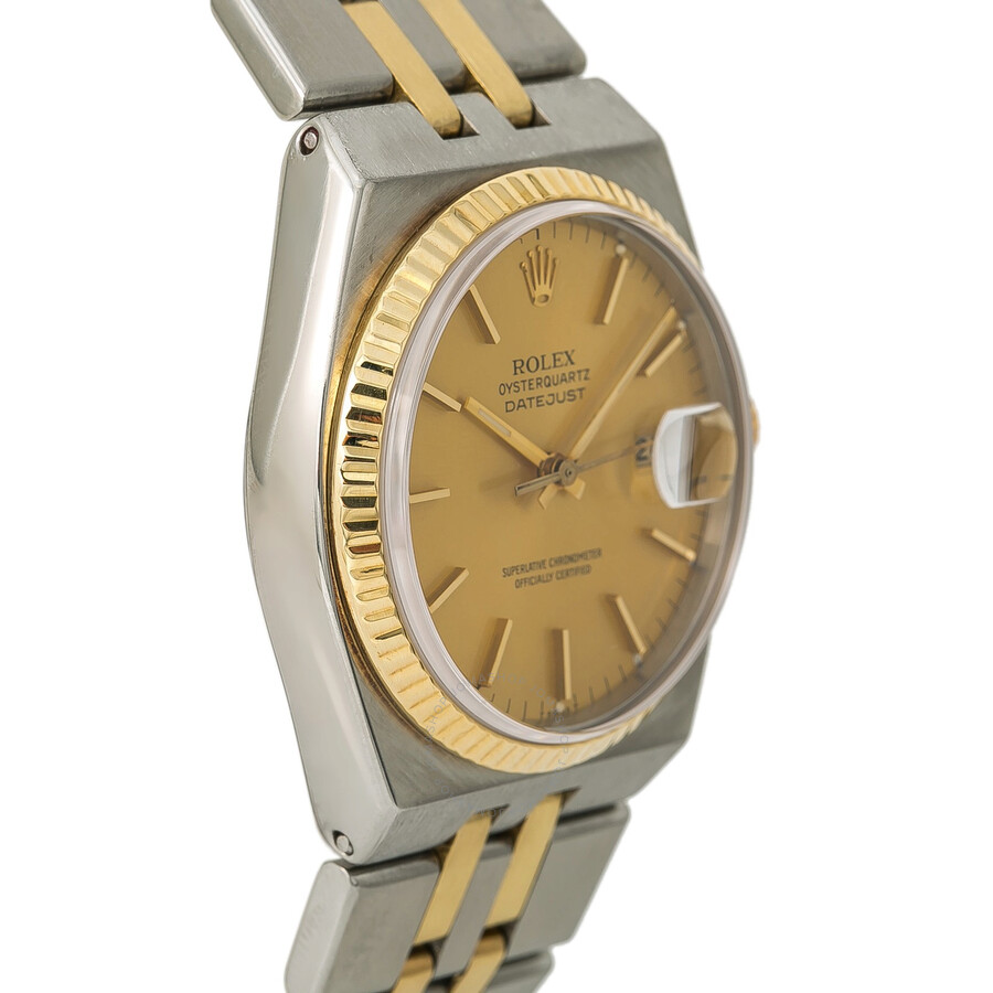d5be170b3ac3 Pre-owned Rolex Datejust OysterQuartz Champagne Dial Men s Watch 17013 CSJ