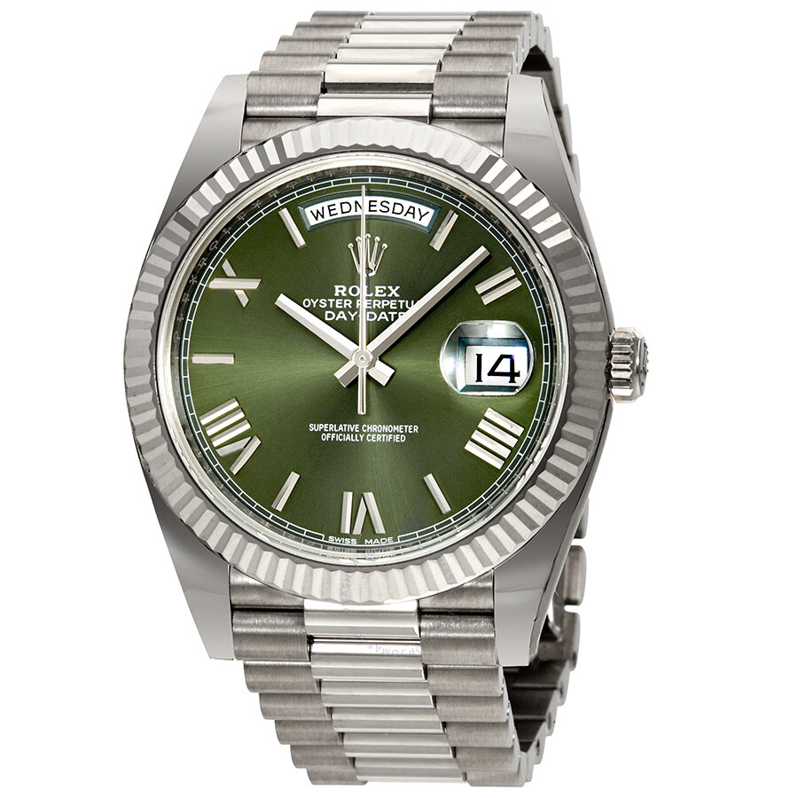 Pre Owned Rolex Day Date Automatic 18 Carat White Gold President Mens Watch 228239gnsrp