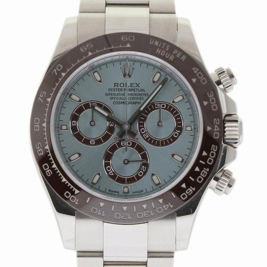 Pre Owned Rolex Daytona Chronograph Automatic Chronometer Blue Dial Men S Watch 116506 Blso