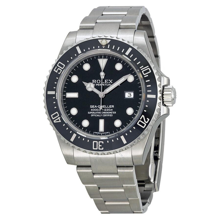 Pre Owned Rolex Sea Dweller 4000 Automatic Chronometer Black Dial Men S Watch 116600