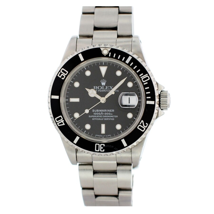 16fafb05b81c Rolex Pre-owned Submariner Automatic Chronometer Black Dial Men s Watch  16610 BKSO Item No. 16610 BKSO