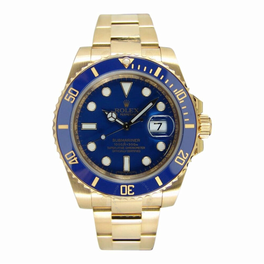 pre owned rolex submariner automatic chronometer blue dial. Black Bedroom Furniture Sets. Home Design Ideas
