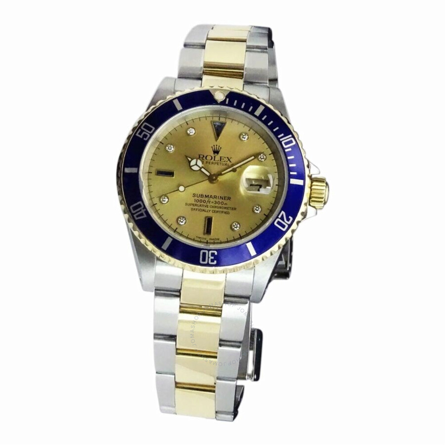 pre owned rolex submariner automatic chronometer champagne. Black Bedroom Furniture Sets. Home Design Ideas