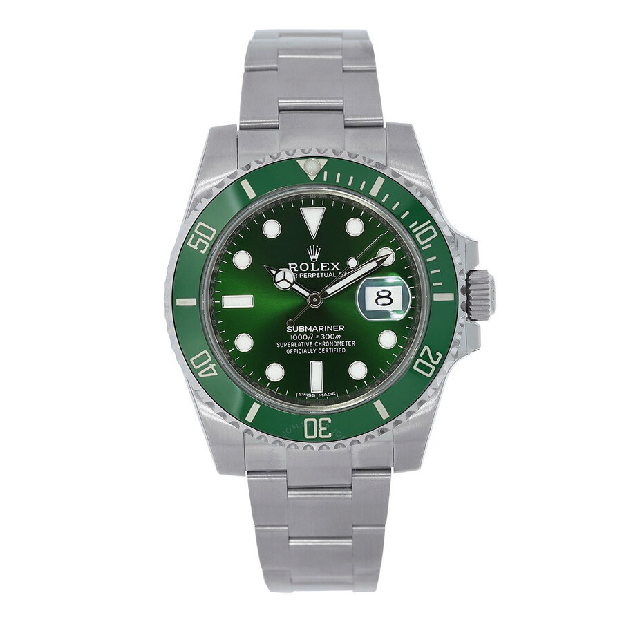 pre owned rolex submariner automatic chronometer green. Black Bedroom Furniture Sets. Home Design Ideas