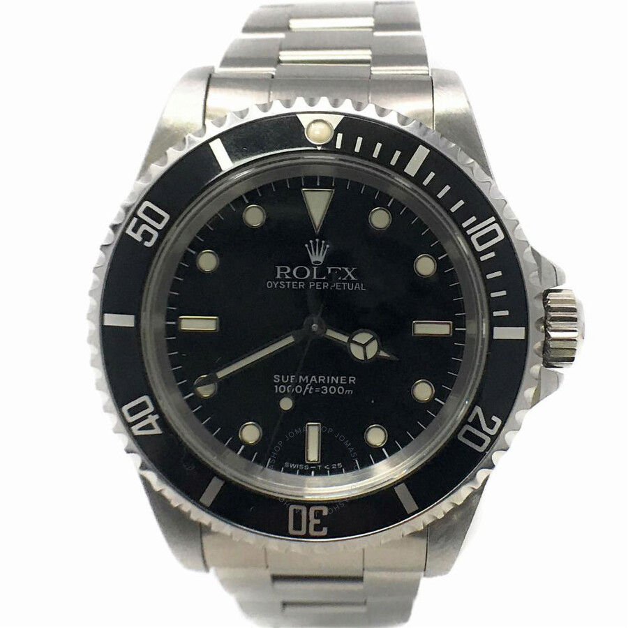 pre owned rolex submariner automatic chronometer silver. Black Bedroom Furniture Sets. Home Design Ideas