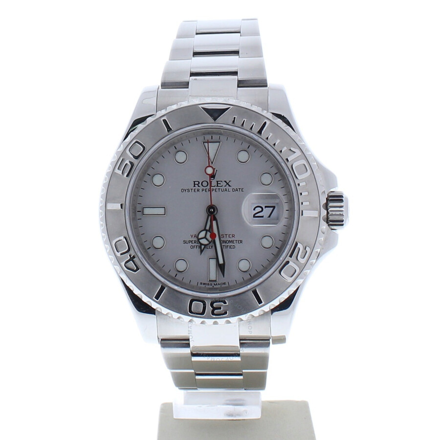 Pre Owned Rolex Yacht Master Automatic Chronometer Silver Dial Men S Watch 116622 Sso