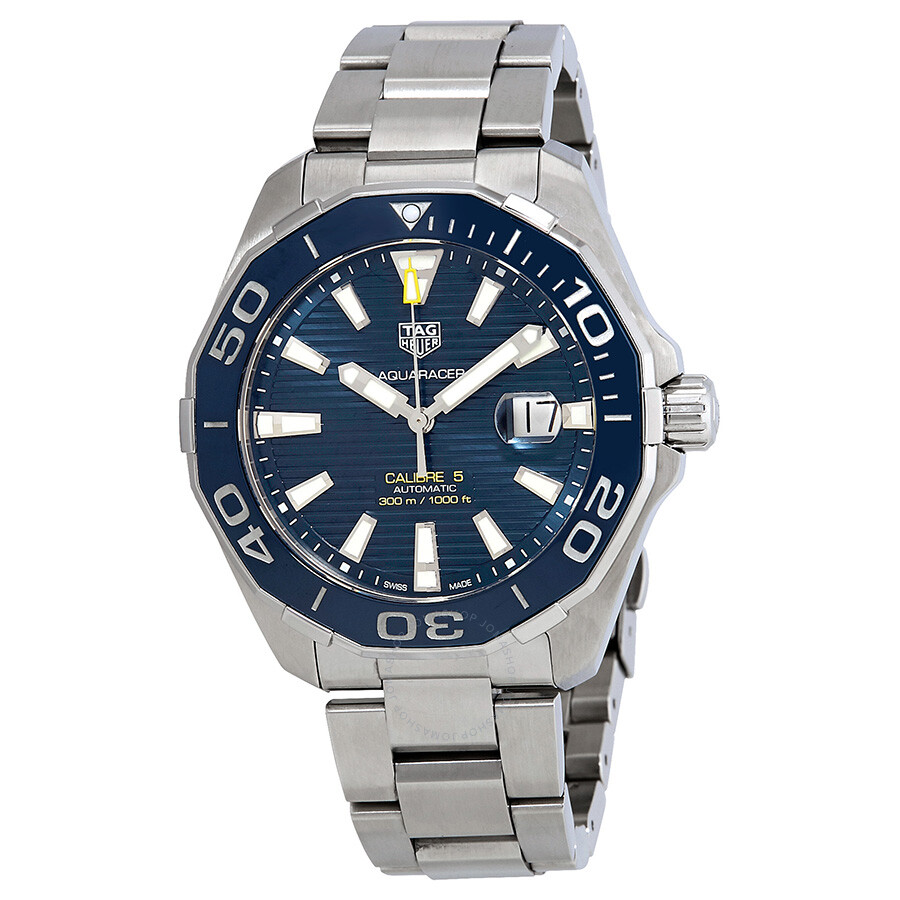 07494f593c6 Pre-Owned Tag Heuer Aquaracer Automatic Blue Dial Men s Watch WAY201B.BA0927  ...
