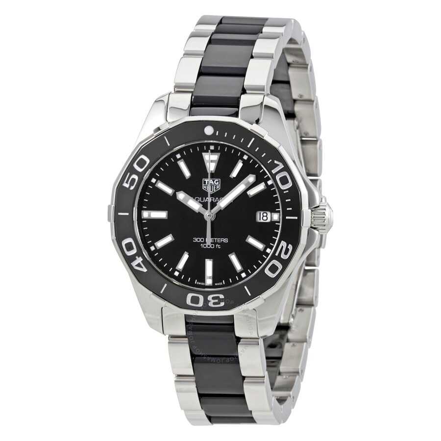 2021ca40fb9 Pre-owned Tag Heuer Aquaracer Black Dial Ladies Watch WAY131A.BA0913 ...