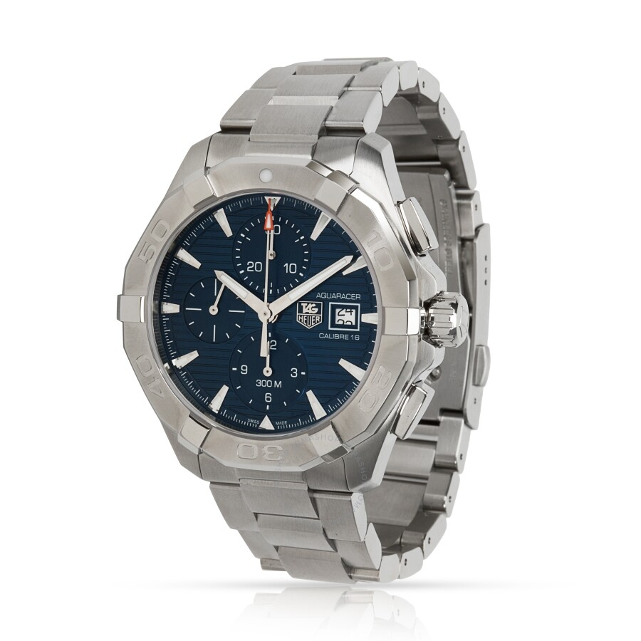 quality design b2e8d 070fd Pre-owned Tag Heuer Aquaracer Chronograph Automatic Blue Dial Men's Watch  CAY2110.BA0925