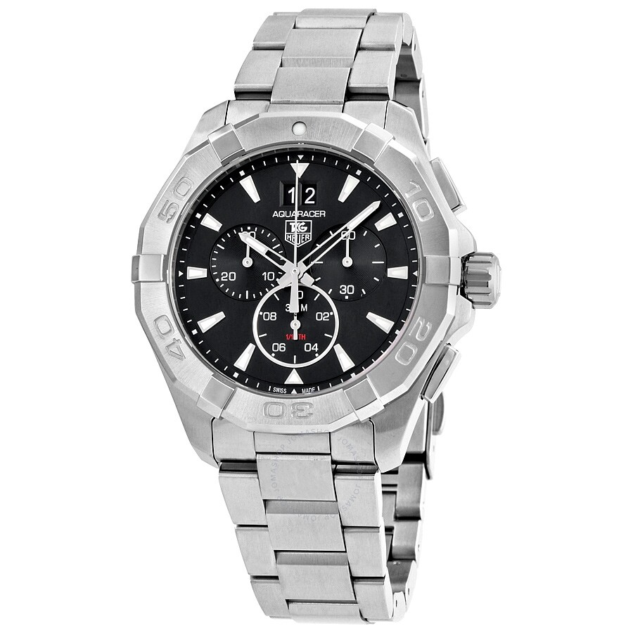 a55811decdf Tag Heuer Pre-owned Aquaracer Chronograph Black Dial Men s Watch Item No.  CAY1110.BA0927