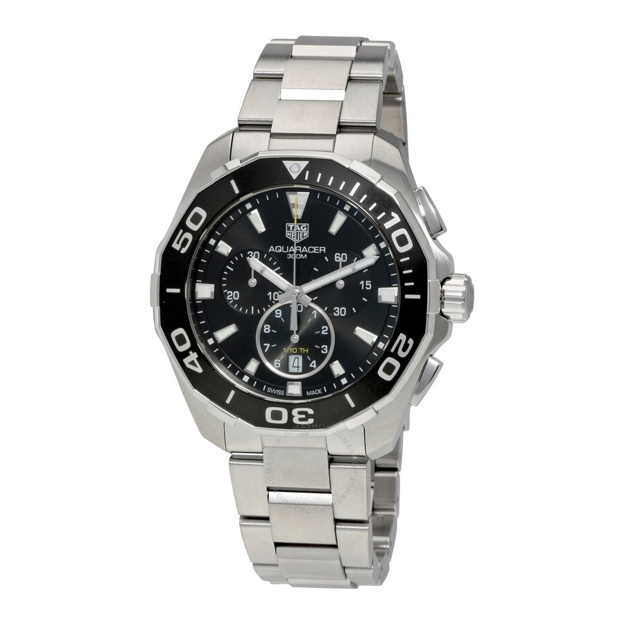 2a4fc63ba7e Pre-owned Tag Heuer Aquaracer Chronograph Black Dial Men s Watch CAY111A. BA0927 ...