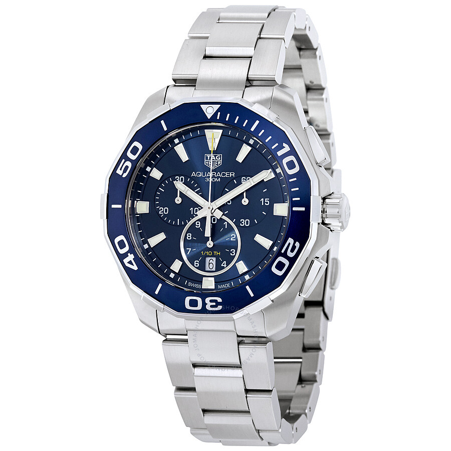 fc13f6dbfea Pre-owned Tag Heuer Aquaracer Chronograph Blue Dial Men s Watch CAY111B. BA0927 ...