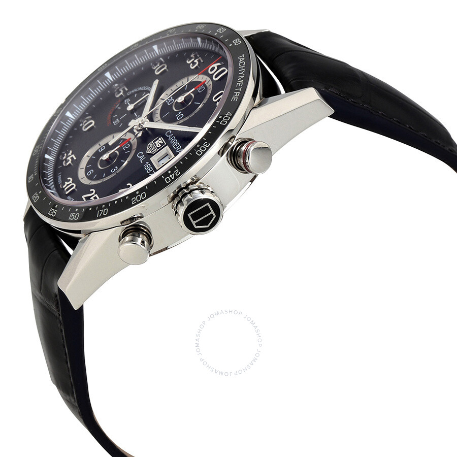 40aaa52bc9ad9 ... Pre-owned Tag Heuer Carrera Calibre 1887 Automatic Chronograph Black Dial  Stainless Steel Men s Watch ...