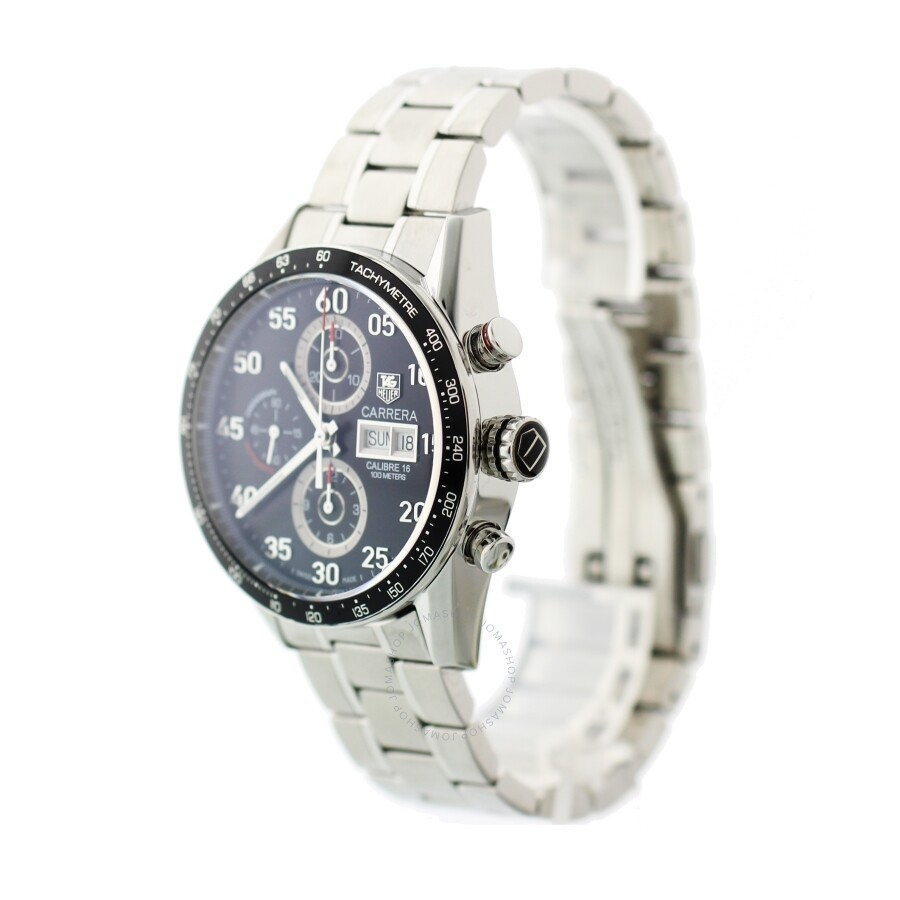 d9b570ee394aa ... Pre-owned Tag Heuer Carrera Chronograph Automatic Black Dial Men s Watch  CV2A10 ...