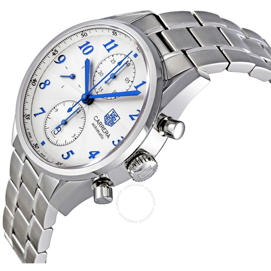 f2e33d5c1c8 BA0730 Pre-owned Tag Heuer Carrera Heritage Chronograph Silver Dial  Automatic Men s Watch CAS2111.