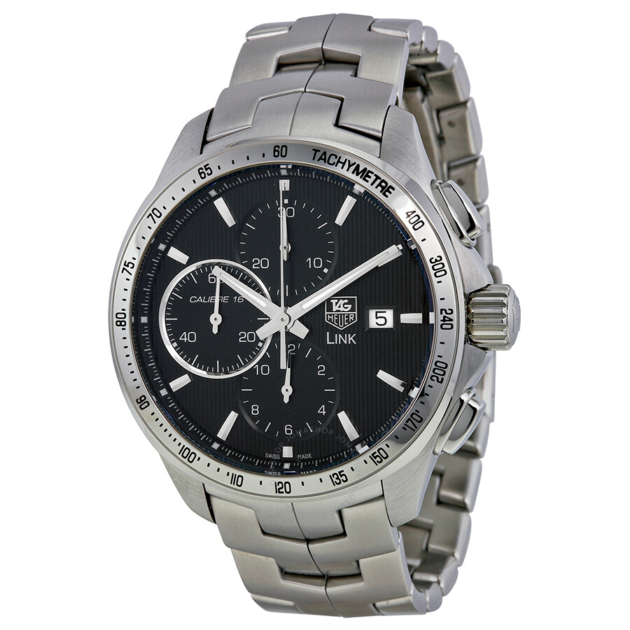 Pre owned tag heuer link automatic chronograph tachymeter automatic men 39 s watch tag heuer for Tag heuer automatic
