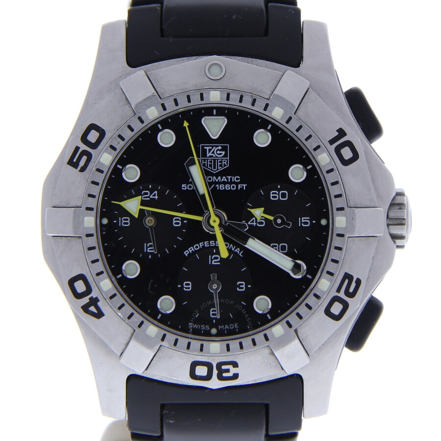 b89d86782d277 Pre-owned Tag Heuer Professional Chronograph Automatic Black Dial Men s  Watch CN211A