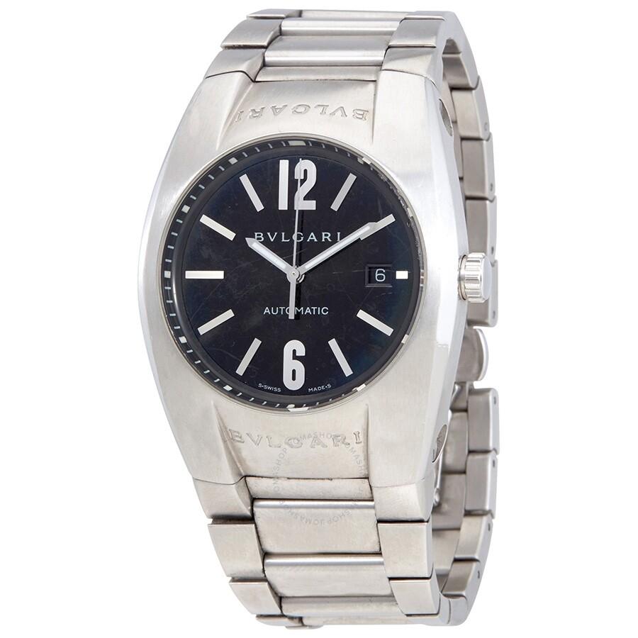 3bbf552ba97 Pre-owned Bvlgari Ergon Black Dial Steel Bracelet Automatic Unisex Watch  EG40S ...