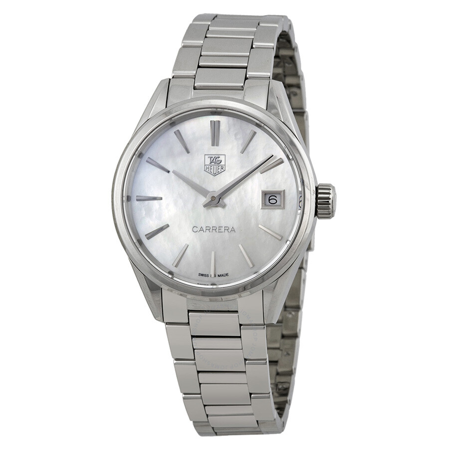 Pre-owned Tag Heuer Carrera Mother of Pearl Dial Ladies Watch WAR1311.BA0773