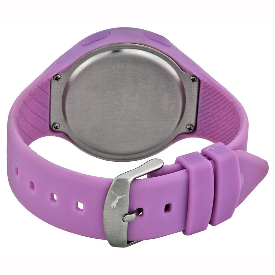 55a1bc4a8ed3 ... Puma loop Grey Digital Dial Light Purple Silicone Unisex Watch  PU910801011