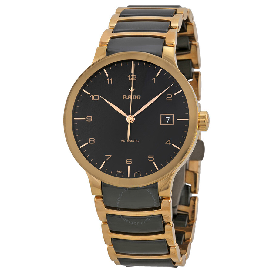 rado centrix automatic rose gold and black ceramic men s watch rado centrix automatic rose gold and black ceramic men s watch r30953152