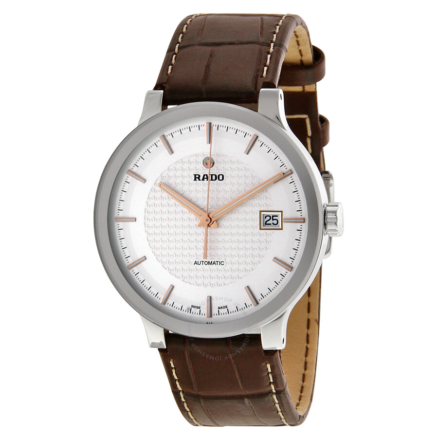 Leather Gmbh Contact Us Email Sales Mail: Rado Centrix Automatic Silver Dial Brown Leather Men's