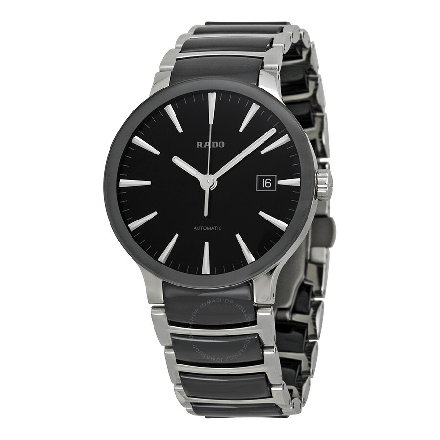 rado watches jomashop rado centrix black dial stainless steel and ceramic men s watch