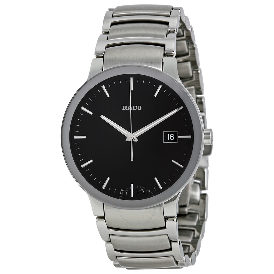rado centrix black stainless steel s