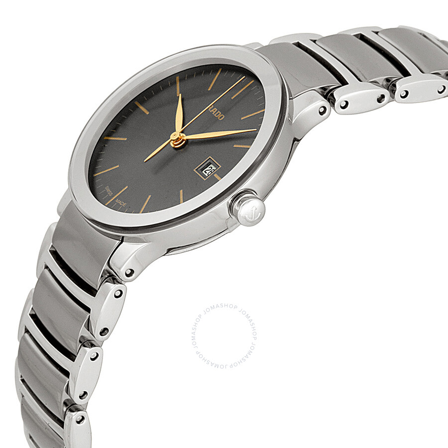 Centrix Grey Dial Stainless Steel and Ceramic Ladies Watch R30928132