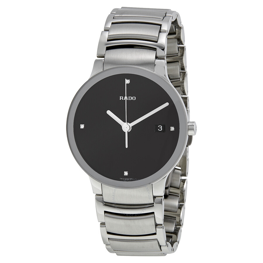 rado centrix jubile black diamond dial stainless steel men s watch rado centrix jubile black diamond dial stainless steel men s watch r30927713