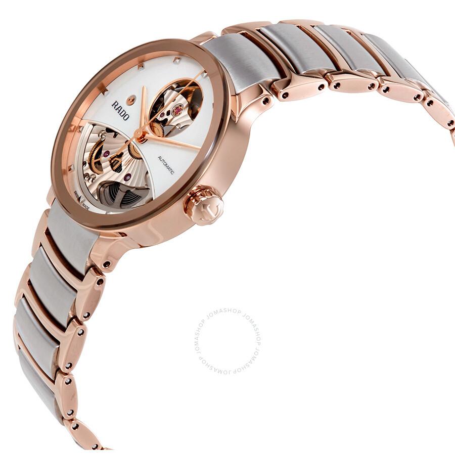 f64cef01d ... Rado Centrix Open Heart Automatic Silver Skeleton Dial Ladies Watch  R30248012 ...