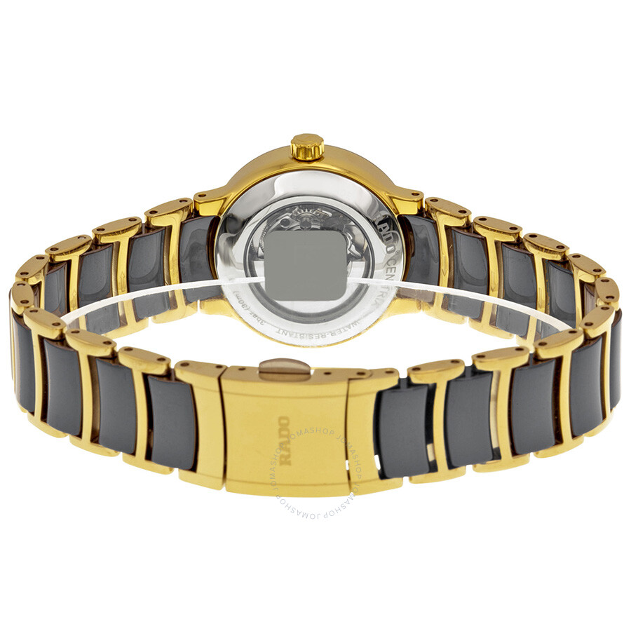 Centrix S Automatic Black Dial Black Ceramic Ladies Watch R30034712