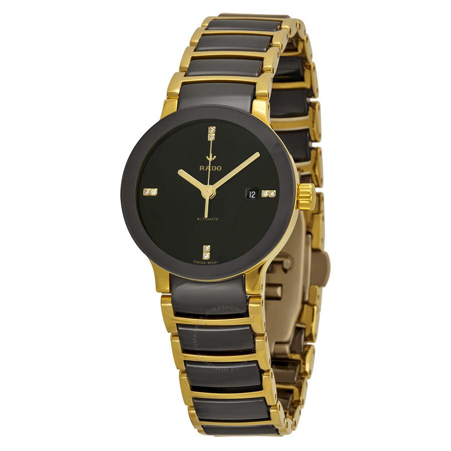 Rado Centrix S Automatic Black Dial Black Ceramic Ladies Watch R30034712 ... be9e7976dcc0
