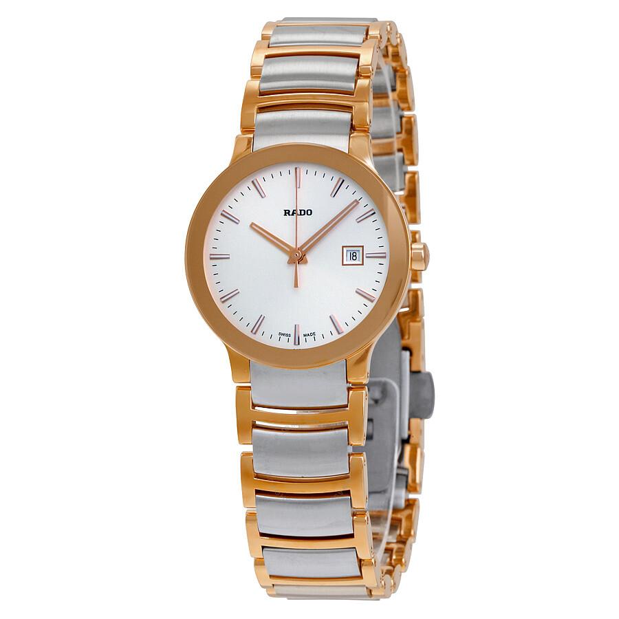 Rado Centrix Silver Dial Ladies Watch R30555103 - Centrix - Rado ... 037b729e1b2e