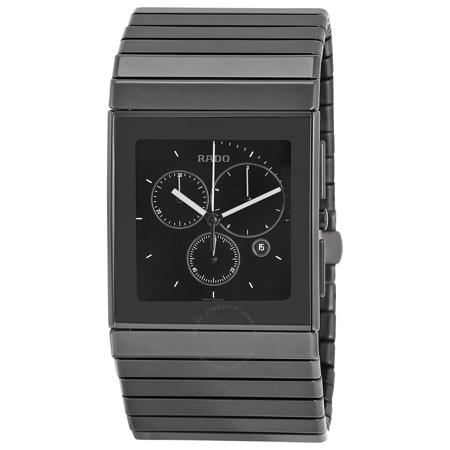 Rado ceramica xl chronograph black matte ceramic men 39 s watch r21715152 ceramica rado for Ceramica chronograph