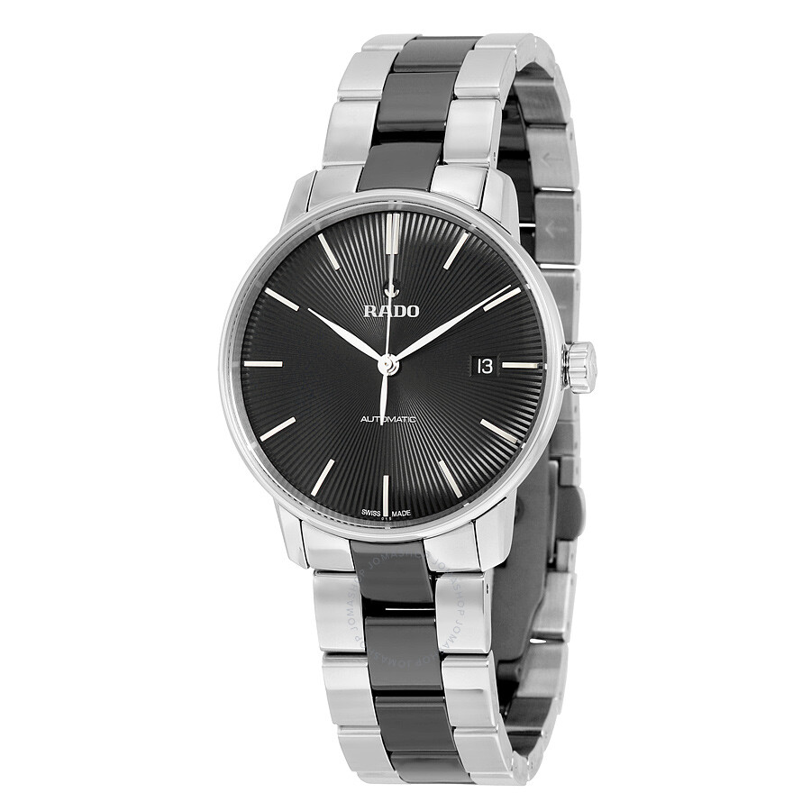 Rado Coupole Classic Automatic Black Dial Stainless Steel Black Ceramic  Men s Watch R22860152 ... f6b1f8eda9