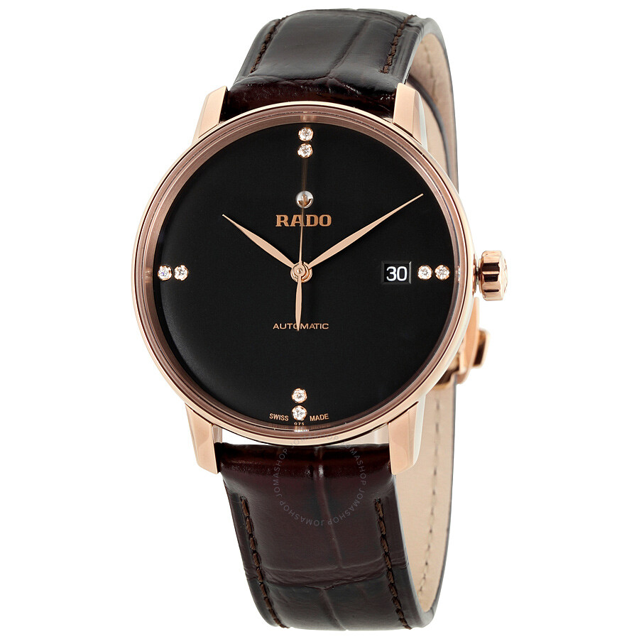 Rado Coupole Classic Black Dial Automatic Unisex Watch R22861755 ... 2086642bc9