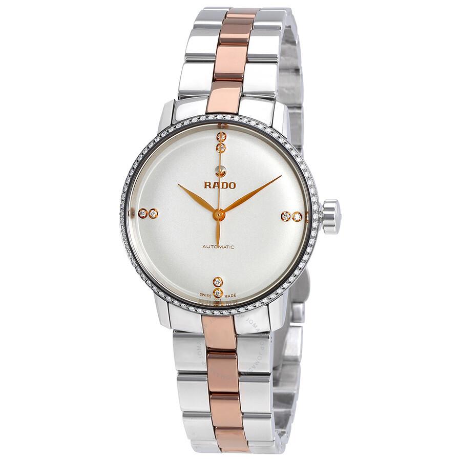 fca7f2881dc Rado Coupole Classic Automatic White Dial Diamond Ladies Watch R22875722 ...