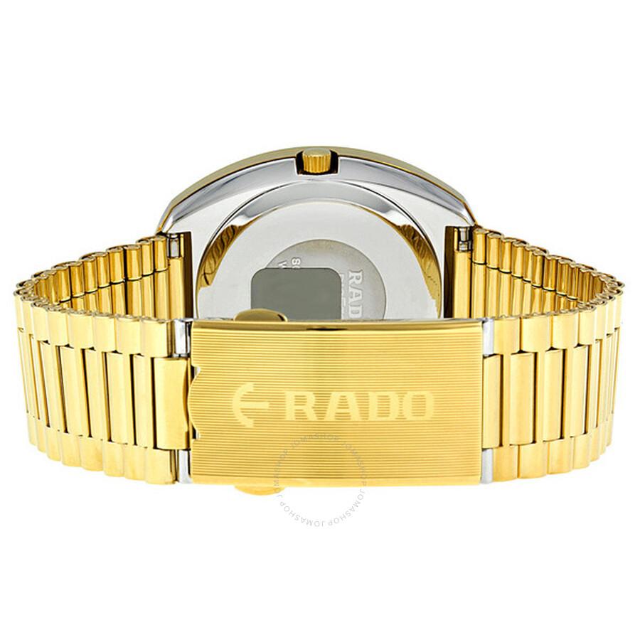 97b89f66b467c ... Rado Diastar All Gold Tone Stainless Steel Men's Watch R12393633 ...