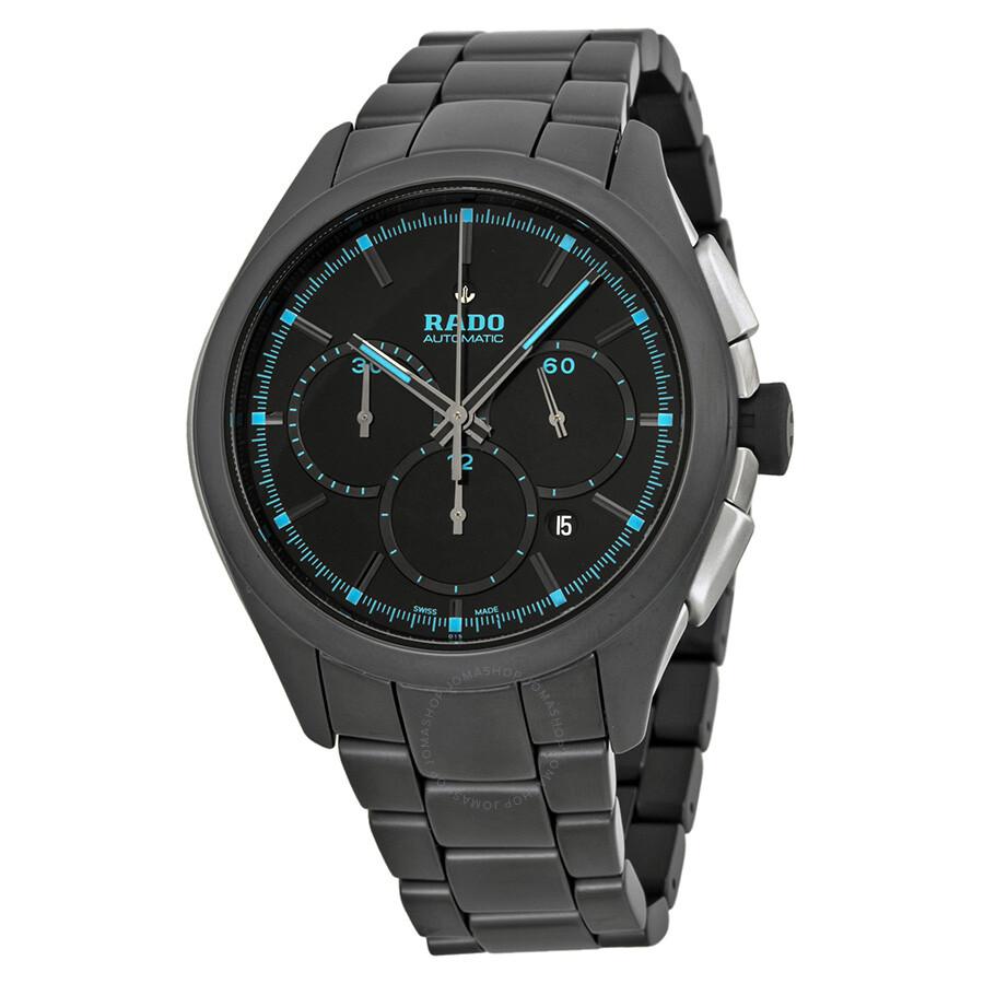 Rado hyperchrome chronograph black dial black ceramic men 39 s watch r32525152 hyperchrome rado for Ceramic man watch