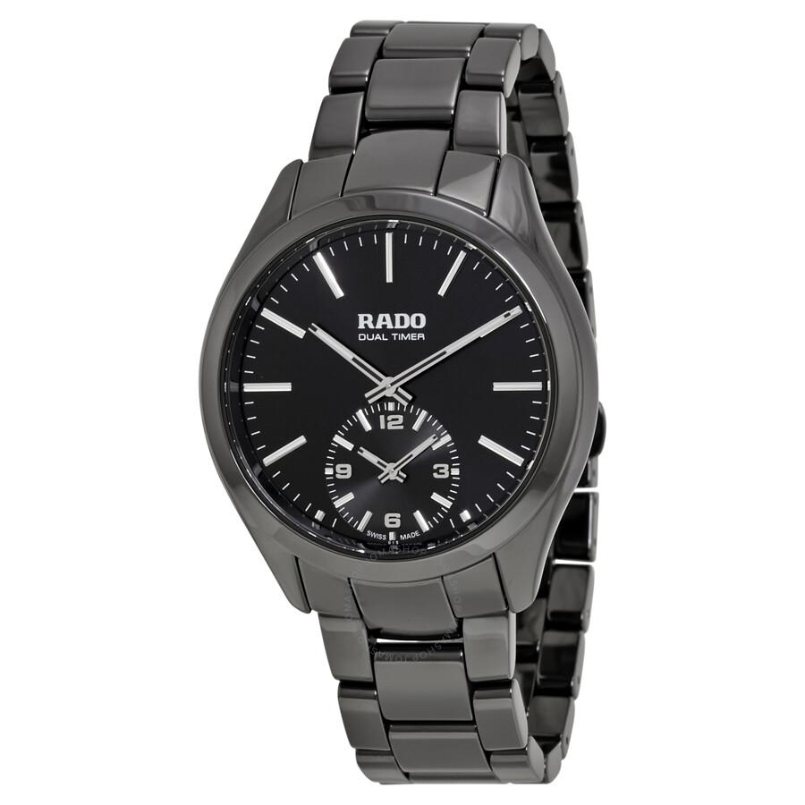 Rado hyperchrome dual timer xl touch black ceramic men 39 s watch r32114152 hyperchrome rado for Ceramic man watch
