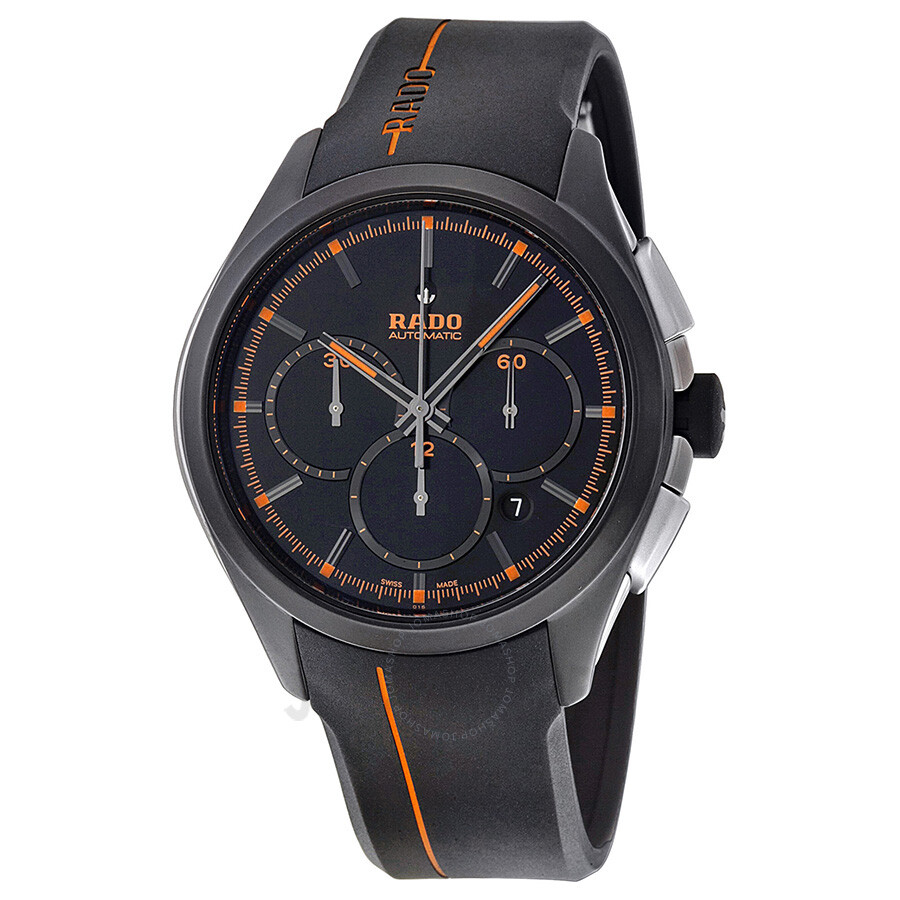 rado hyperchrome xxl black dial black rubber men s watch r32525169
