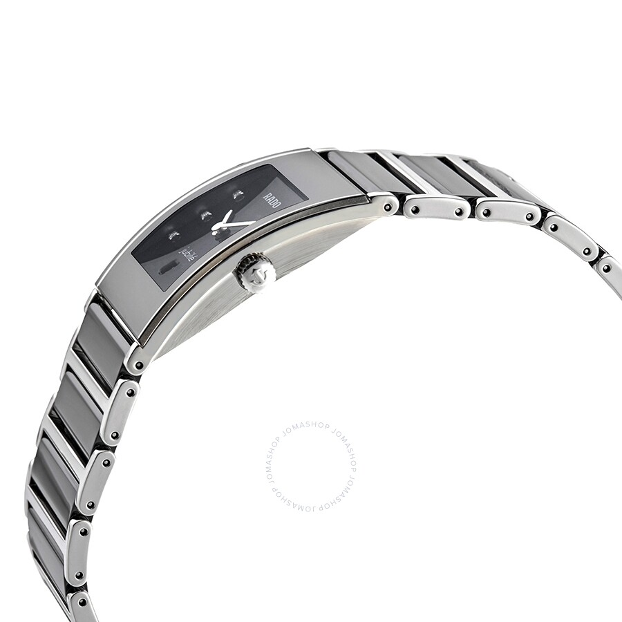 5088dca5d ... Rado Integral Ceramic & Steel Diamond Dial Ladies Watch R20785752 ...