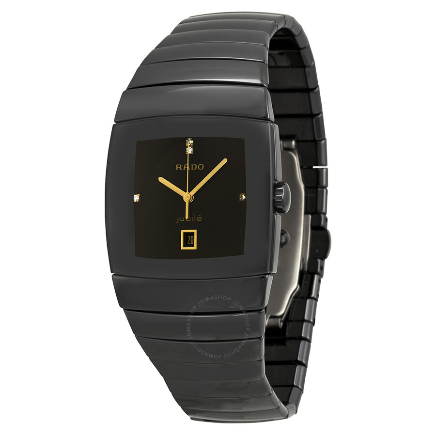 Rado jubile black dial black ceramic men 39 s watch r31724712 true rado watches jomashop for Jubilee watch