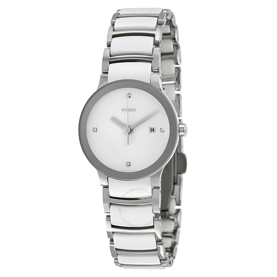 f7005e57f26 Rado Jubile Centrix Silver Dial Stainless Steel Ladies Watch R30928722 ...